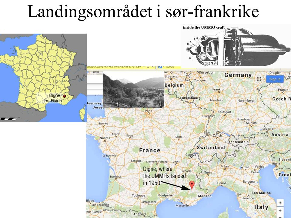 Landingsområdet i sør-frankrike