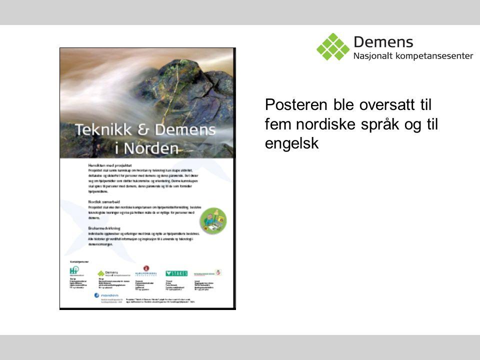 Posteren ble oversatt til fem nordiske språk og til engelsk