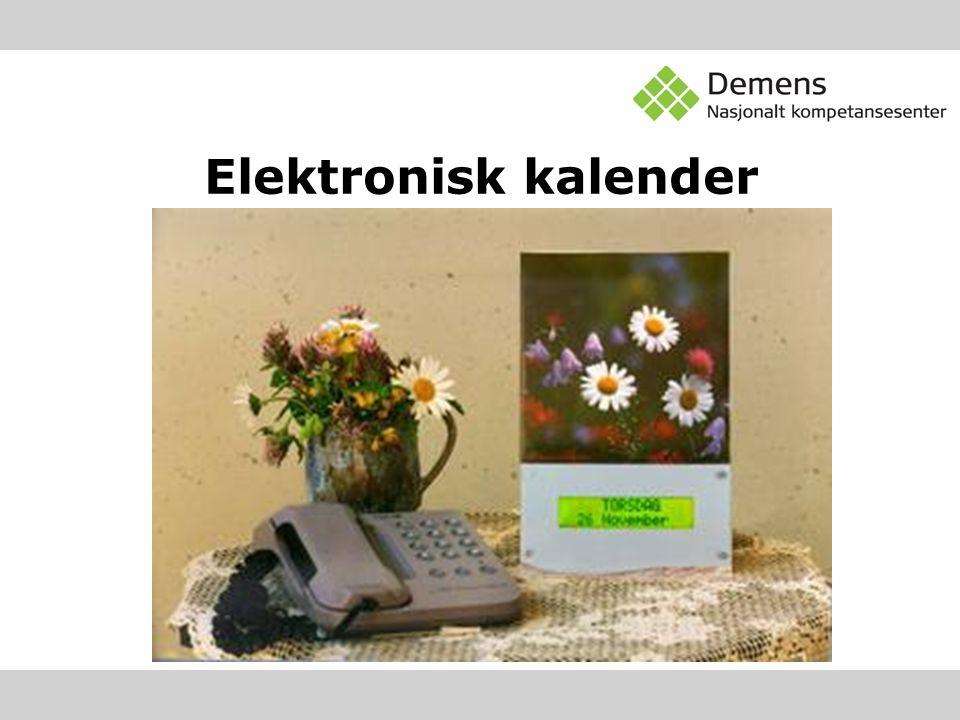 Elektronisk kalender