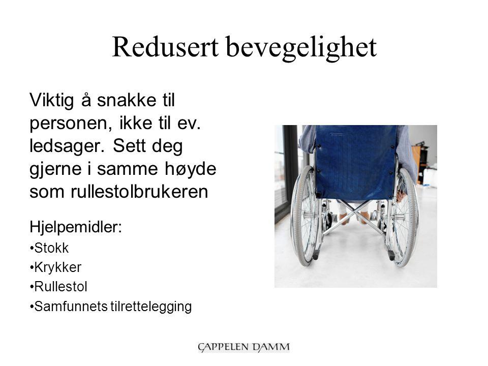 Skjulte funksjonshemninger Vis forståelse for at det er slitsomt å stadig måtte forklare og begrunne hvorfor de trenger hjelp Hjelpemidler: Behovet er ulikt fra person til person