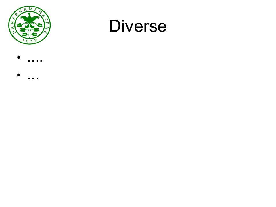 Diverse …. …