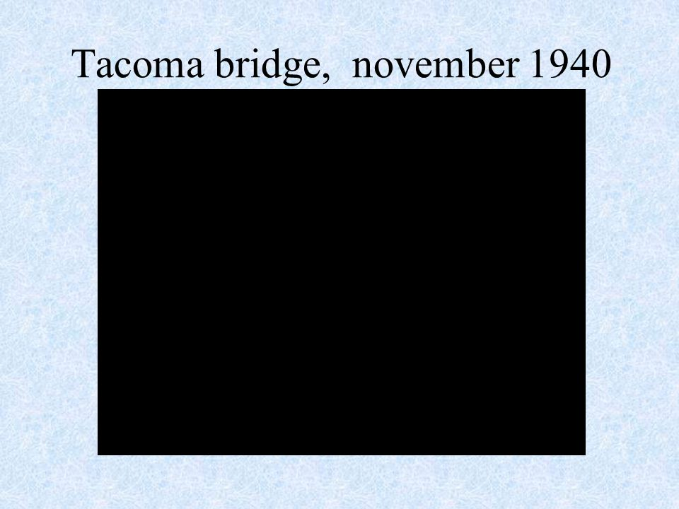 Tacoma bridge, november 1940