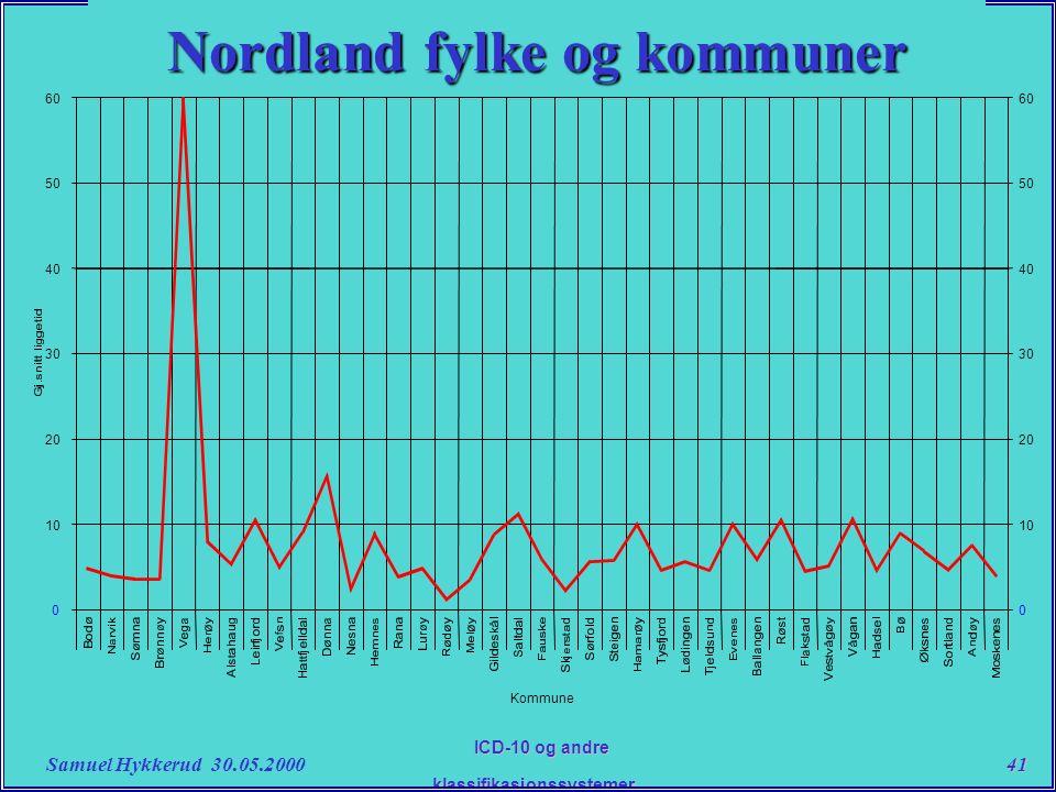 Samuel Hykkerud 30.05.200041 ICD-10 og andre klassifikasjonssystemer....