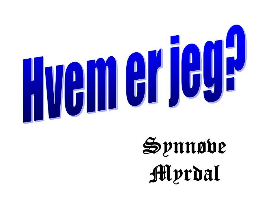 Synnøve Myrdal