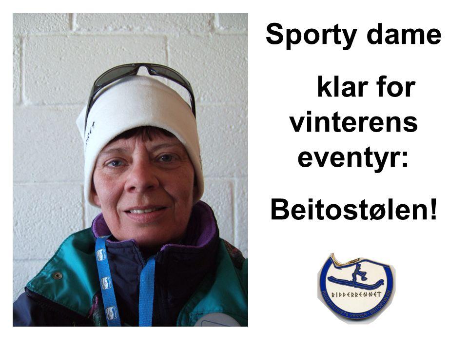 Sporty dame klar for vinterens eventyr: Beitostølen!