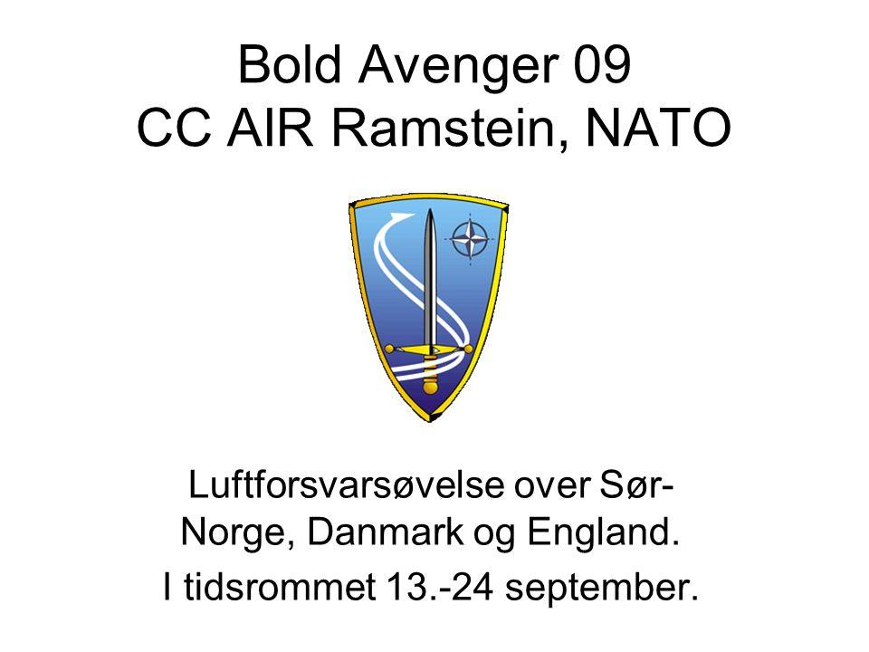 Bold Avenger 09 CC AIR Ramstein, NATO Luftforsvarsøvelse over Sør- Norge, Danmark og England.