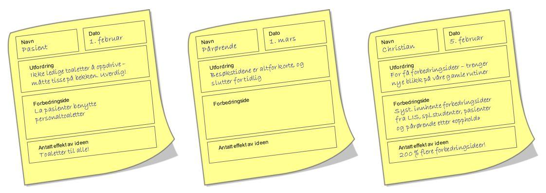 Navn Pasient Dato 1. februar Utfordring Ikke ledige toaletter å oppdrive – måtte tisse på bekken.