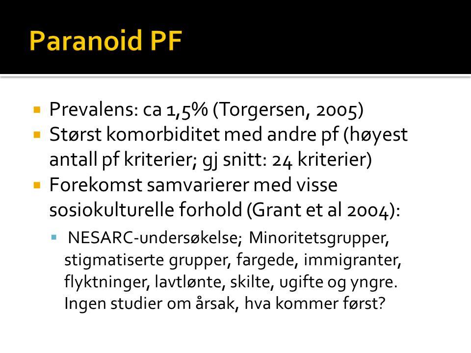  Arvbarestimat 0,23 (Kendler et al 2008)  Genetisk forbindelse til schizofreni og paranoid psykose (vrangforestillingslidelse).
