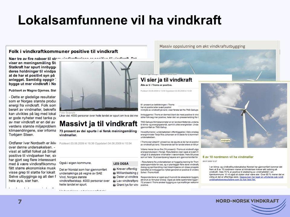 8 Nordland på banen.Nordland er et ledende energifylke i Norge.