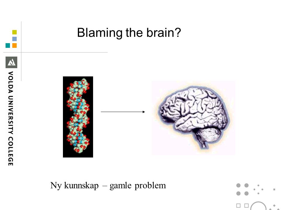 Blaming the brain Ny kunnskap – gamle problem