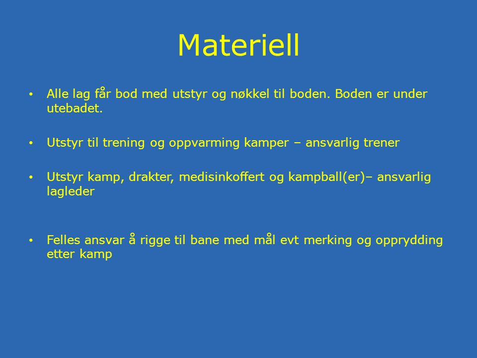 Oppdatering lagside Logg på nettsiden Velg rolle trener Mest aktuelt Spillere Kamper Nyheter Send melding Rapporter