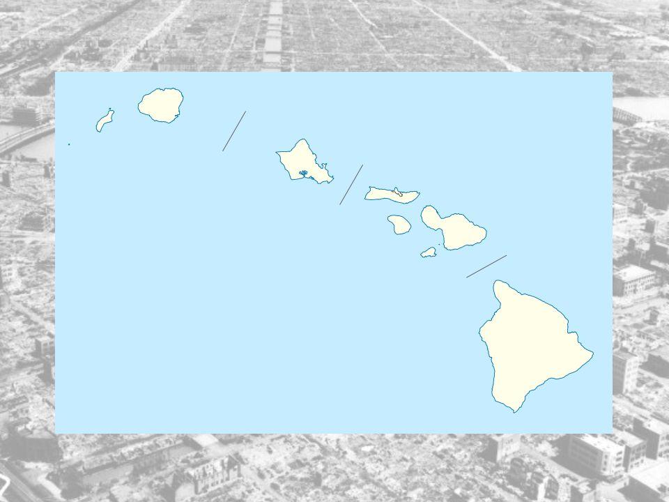 Generelt: Øyen Hawaii ligger i Stillehavet, og da de ble dratt inn i 2.verdenskrig hadde Amerika hovedkvarteret for den amerikanske stillehavsflåten s