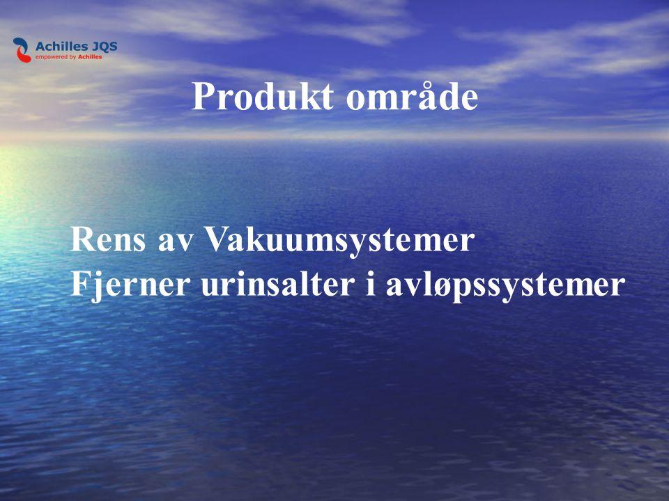Rens av Vakuumsystemer Fjerner urinsalter i avløpssystemer Produkt område