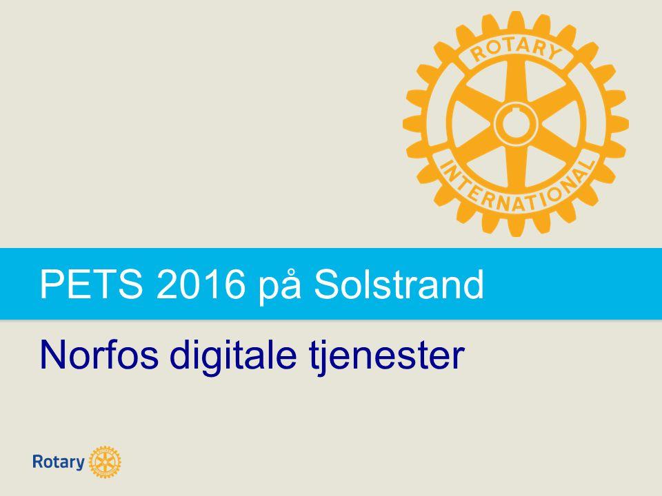 PETS 2016 på Solstrand Norfos digitale tjenester