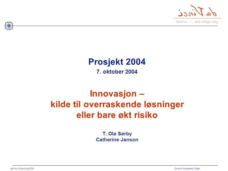 daVinci Consulting 2004 Dorothy Sutherland Olsen Hvordan koble til strømmen.