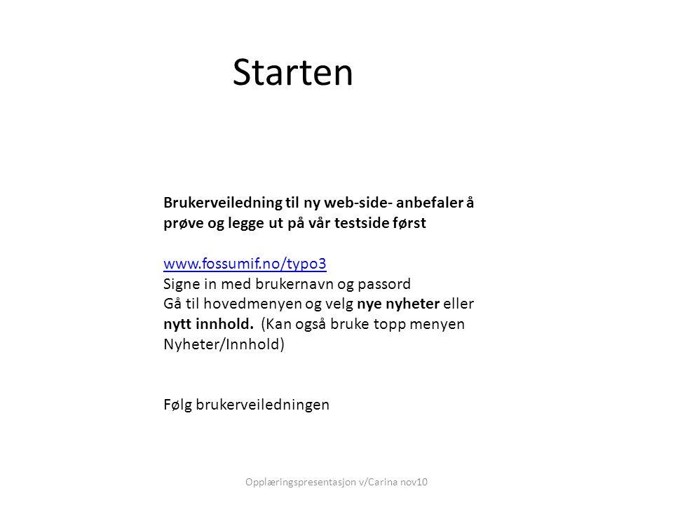 For å registrere innhold = statisk informasjon Fyll inn tittel og forfatter.