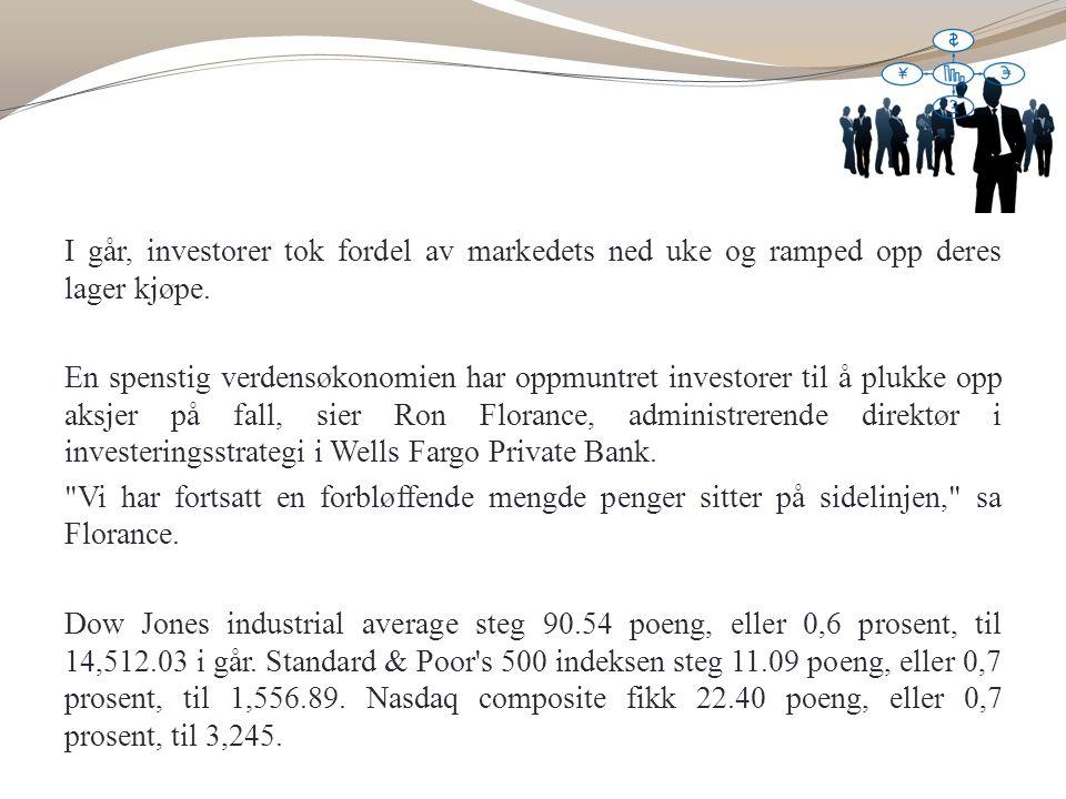 I går, investorer tok fordel av markedets ned uke og ramped opp deres lager kjøpe.