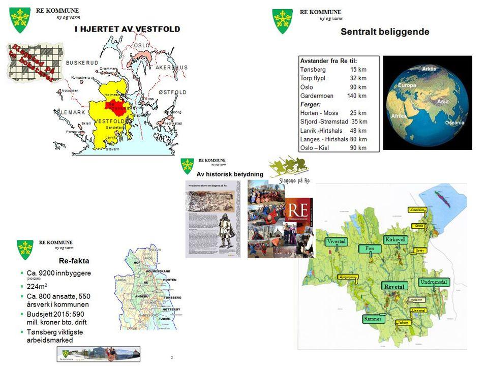 RE KOMMUNE ny og varm 3 Bakgrunn for sammenslåingen Langvarig og omfattende samarbeid Ønske om å bevare en selvstendig landkommune Ett naturlig geografisk sentrum