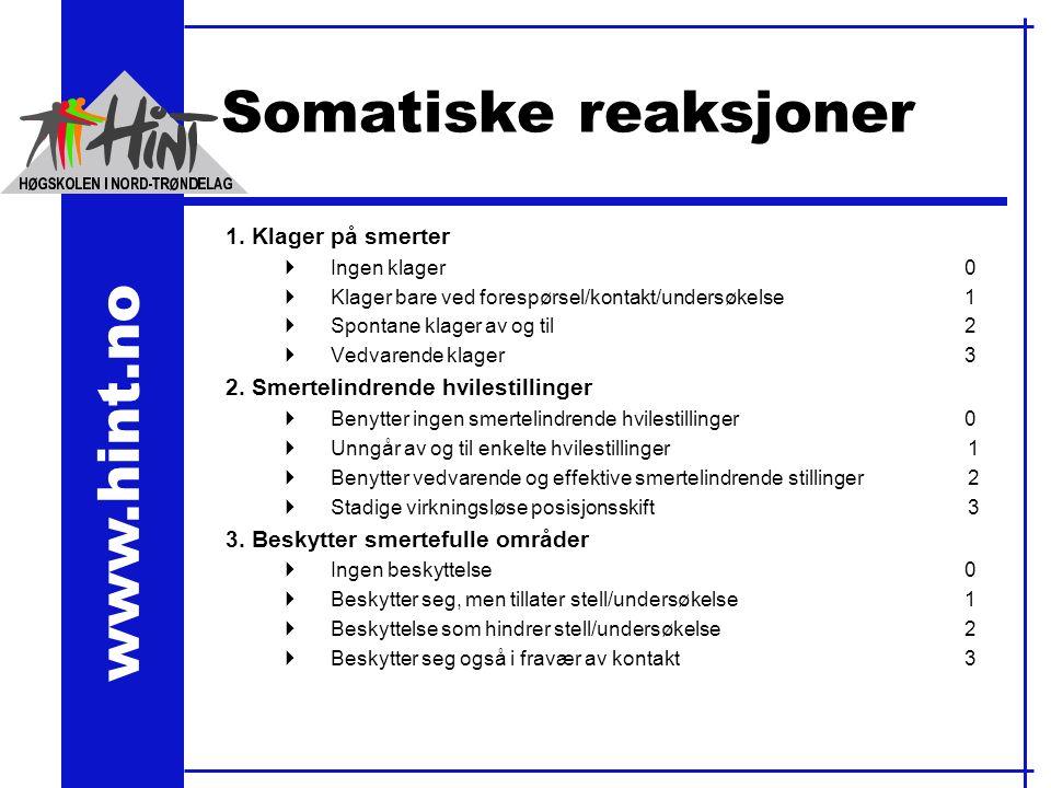 www.hint.no Somatiske reaksjoner 1.
