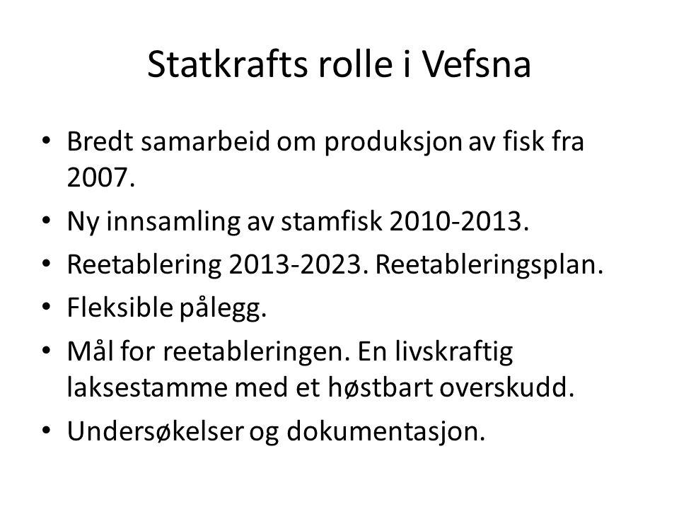 Statkrafts rolle i Vefsna Bredt samarbeid om produksjon av fisk fra 2007.