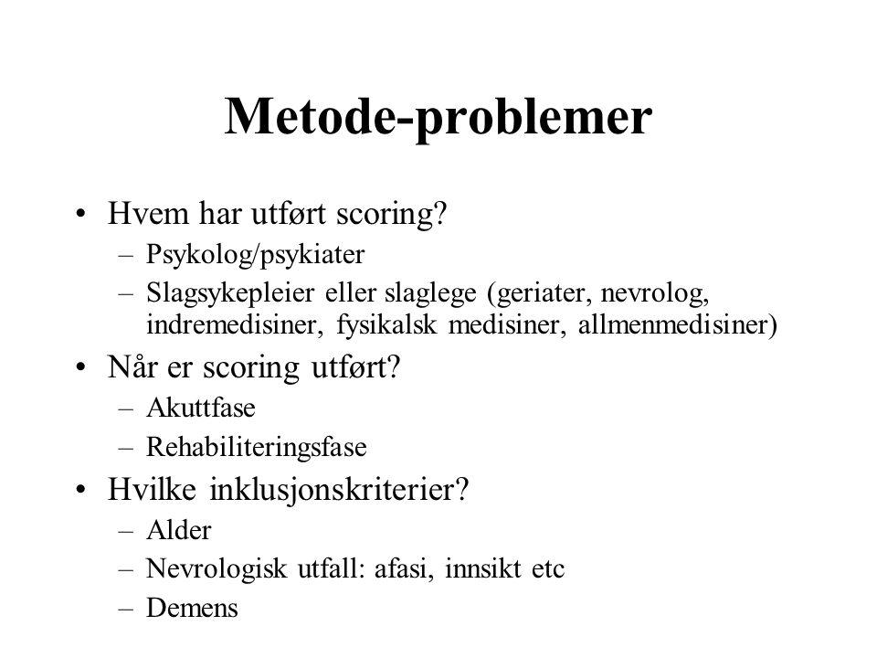 Metode-problemer Hvem har utført scoring.