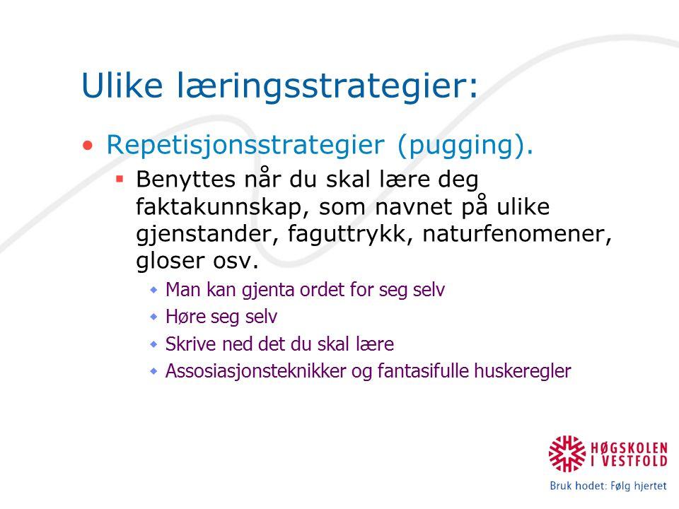 Ulike læringsstrategier: Lese pensum for å lære?