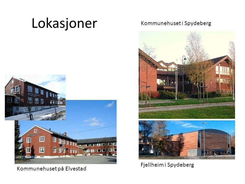 Lokasjoner Kommunehuset på Elvestad Kommunehuset i Spydeberg Fjellheim i Spydeberg
