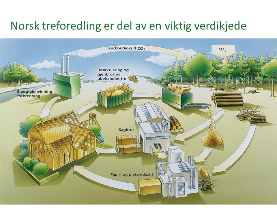 Norsk treforedling er del av en viktig verdikjede
