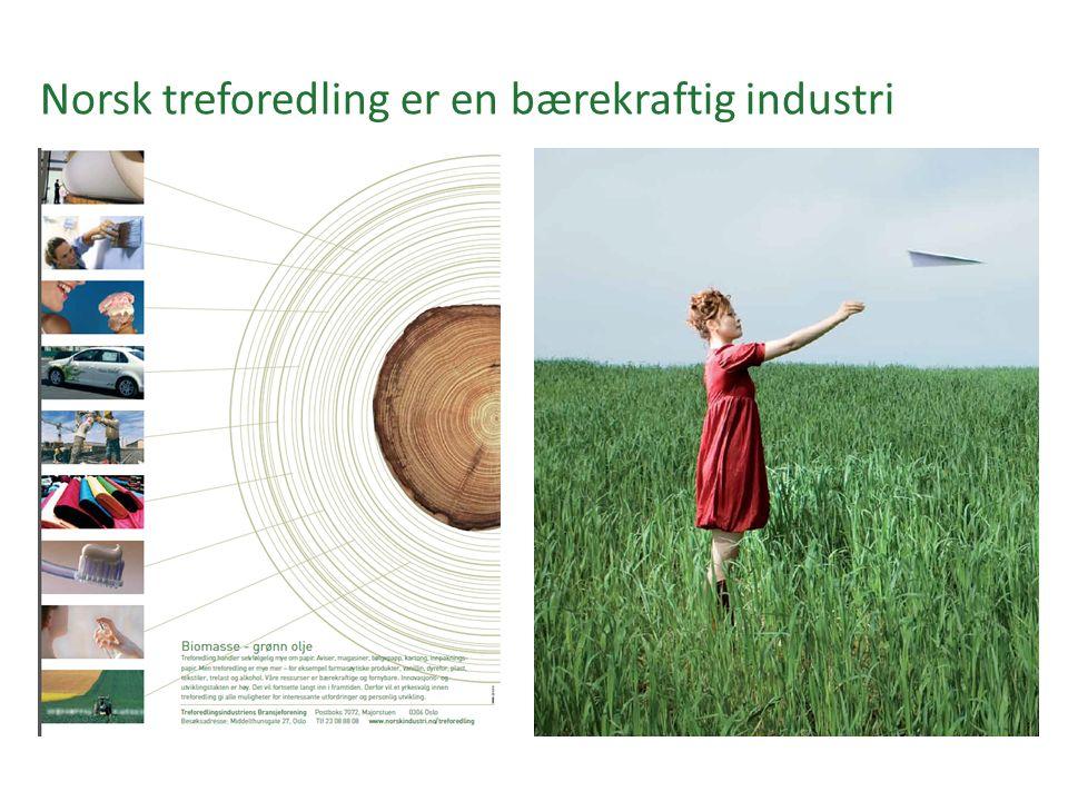 Norsk treforedling er en bærekraftig industri