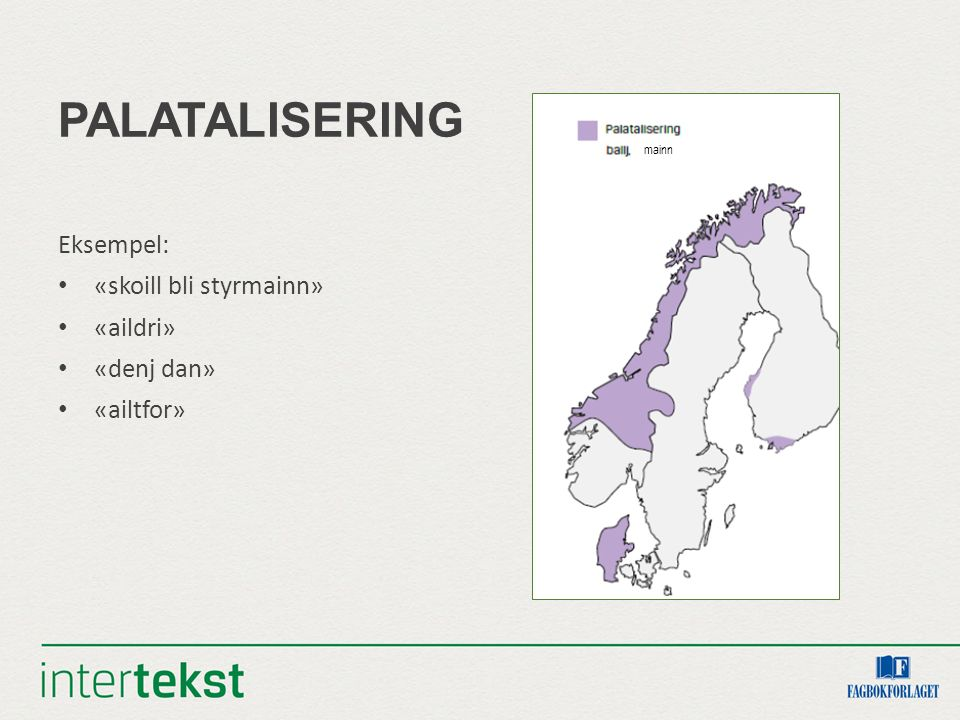 PERSONLEGE PRONOMEN Teksten har formene vi, æ Vi held oss framleis til Trøndelag/ Nordmøre, og ser at vi kan utelukke indre område i sør, som har oss eller me/mi, og indre område i nord som har i/ei/ai.