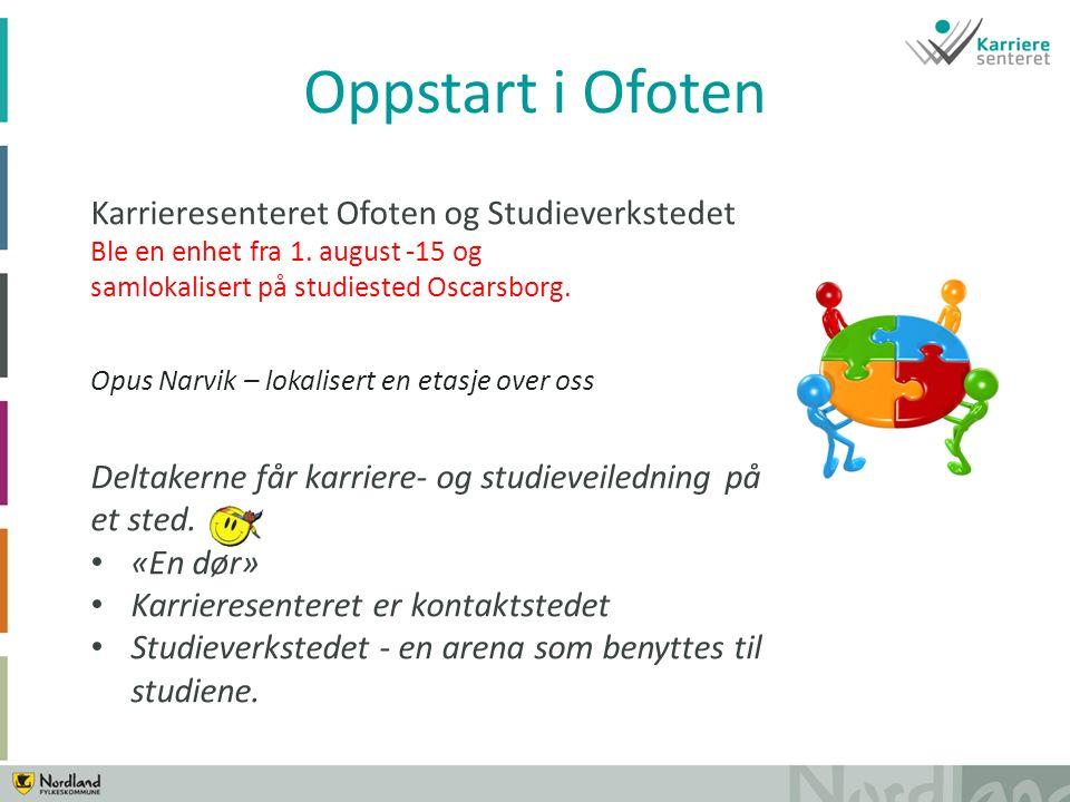 Karrieresenteret Ofoten og Studieverkstedet Ble en enhet fra 1.