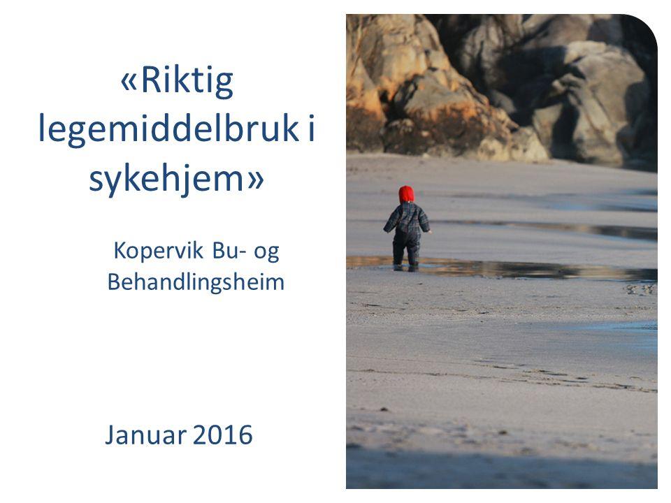 Kopervik Bu- og Behandlingsheim Januar 2016 «Riktig legemiddelbruk i sykehjem»