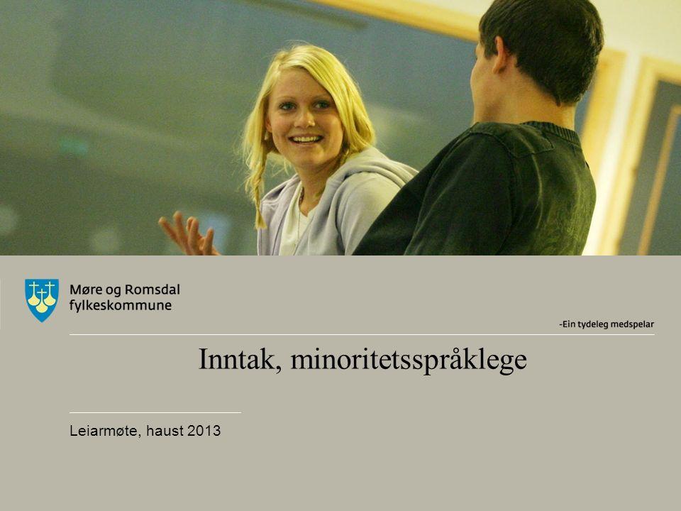 Inntak, minoritetsspråklege Leiarmøte, haust 2013