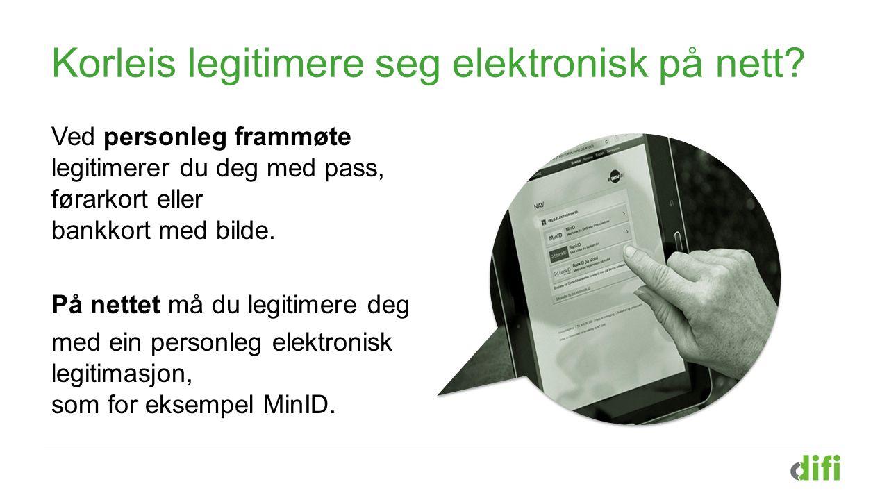 Logge inn til offentlege tenester med MinID MinID er samansett av tre deler: Fødselsnummer + Eige passord + Kode frå SMS