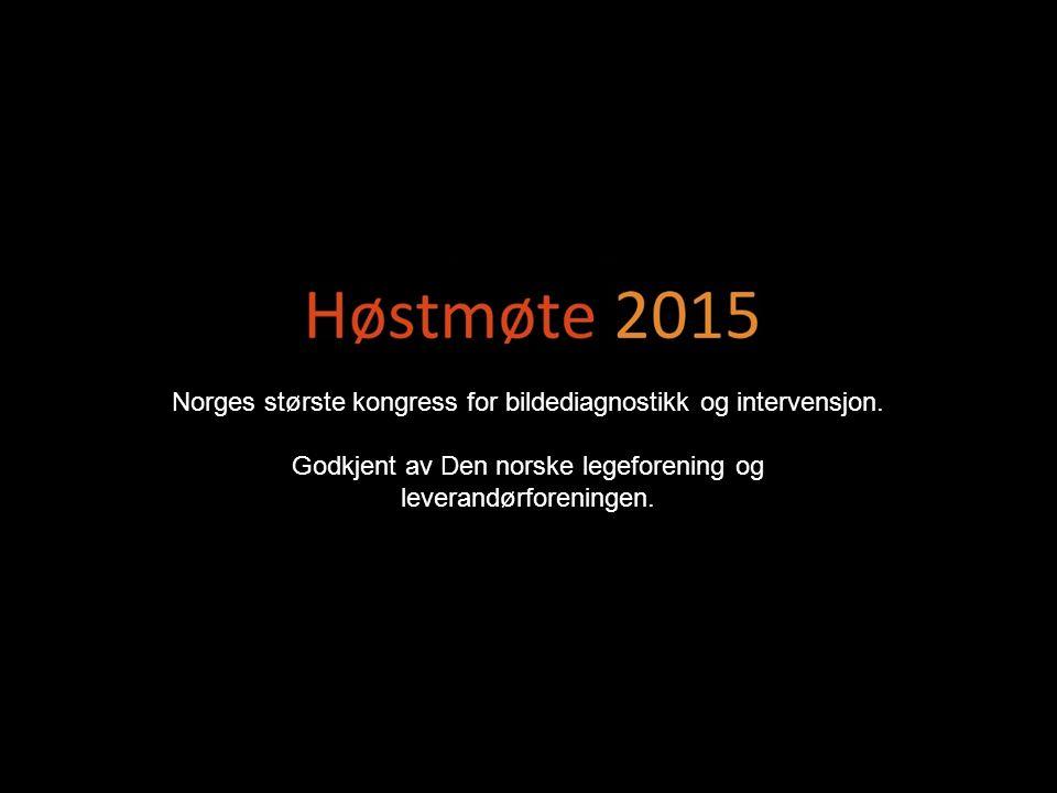 Norges største kongress for bildediagnostikk og intervensjon.