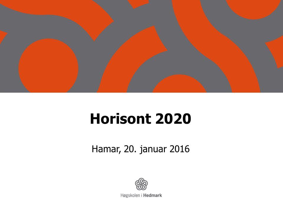 Horisont 2020 Hamar, 20. januar 2016