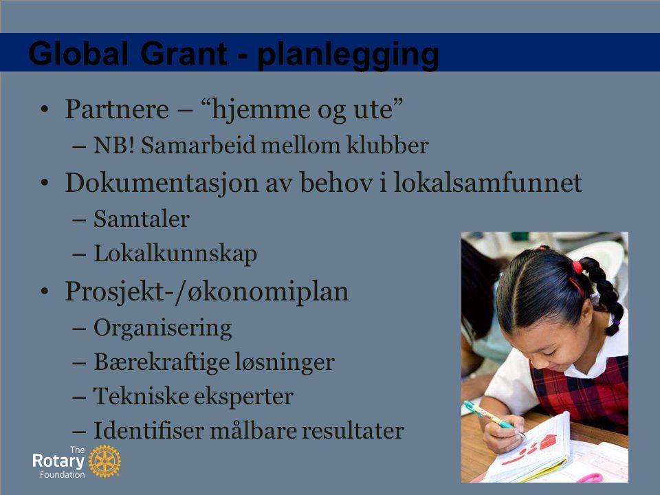 Global Grant - planlegging Partnere – hjemme og ute – NB.