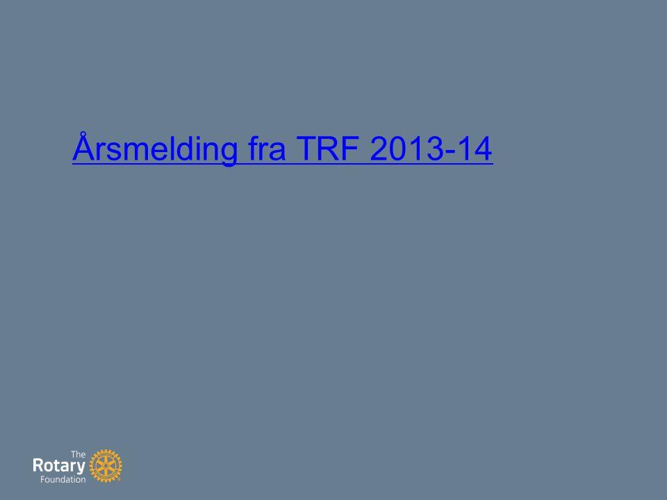 Årsmelding fra TRF 2013-14