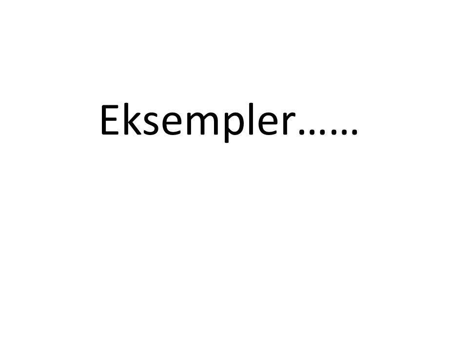 Eksempler……