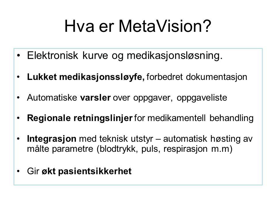 Hva er MetaVision. Elektronisk kurve og medikasjonsløsning.