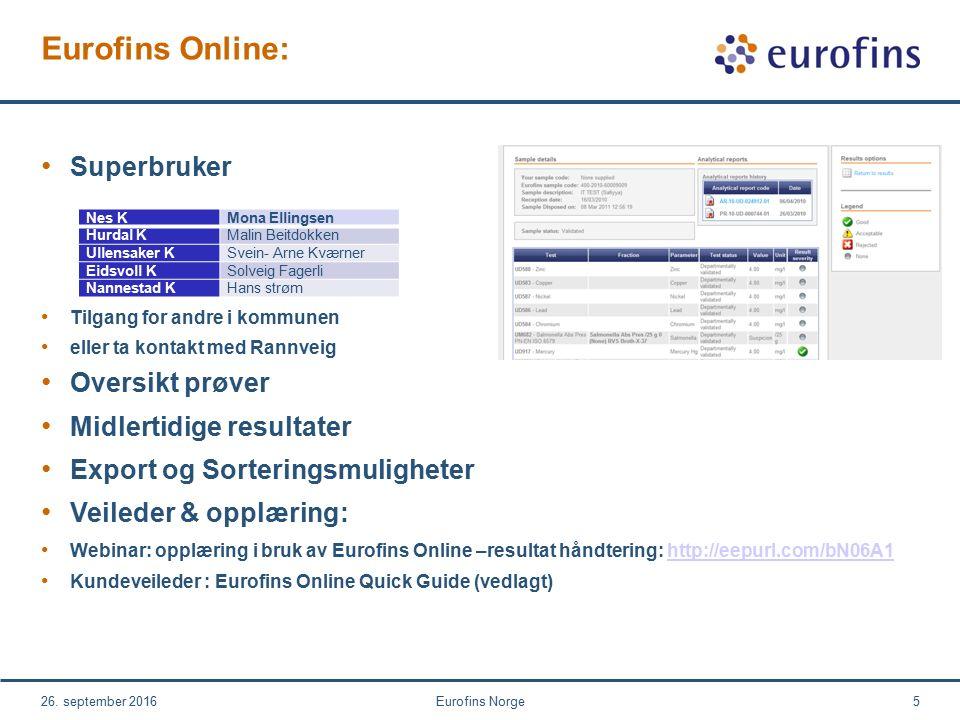Eurofins Online: 26.