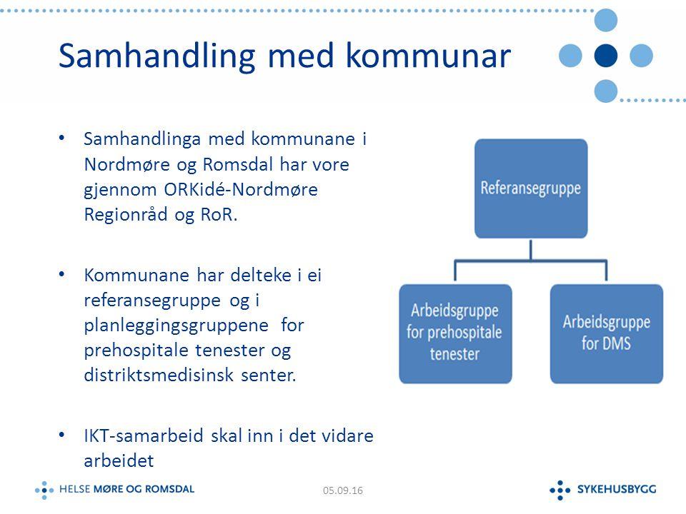 Verksemdsalternativa i Kristiansund, DMS og prehospitale tenester