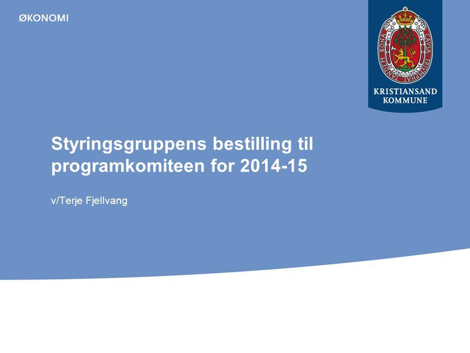 Styringsgruppens bestilling til programkomiteen for 2014-15 v/Terje Fjellvang