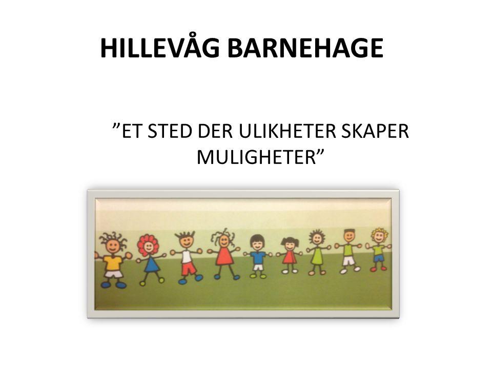 HILLEVÅG BARNEHAGE ET STED DER ULIKHETER SKAPER MULIGHETER