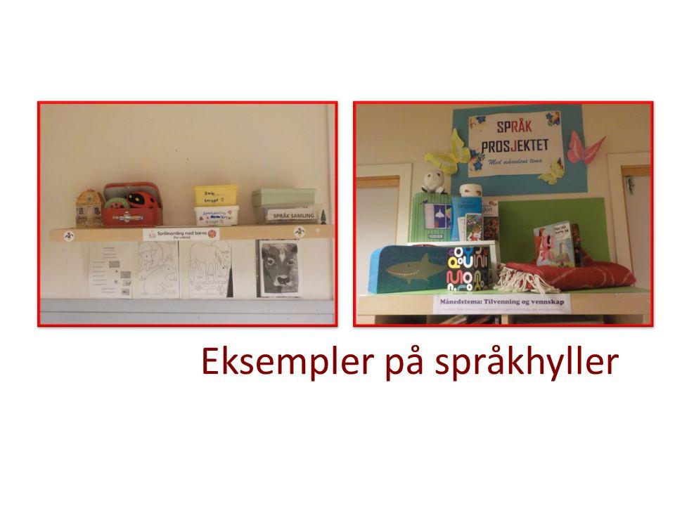 Eksempler på språkhyller