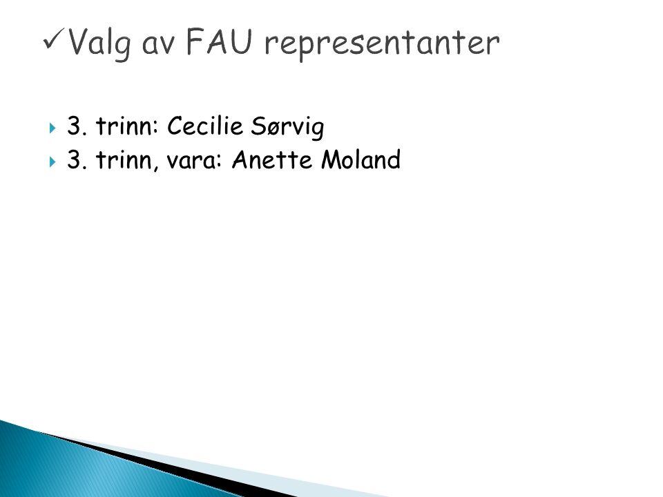  3. trinn: Cecilie Sørvig  3. trinn, vara: Anette Moland