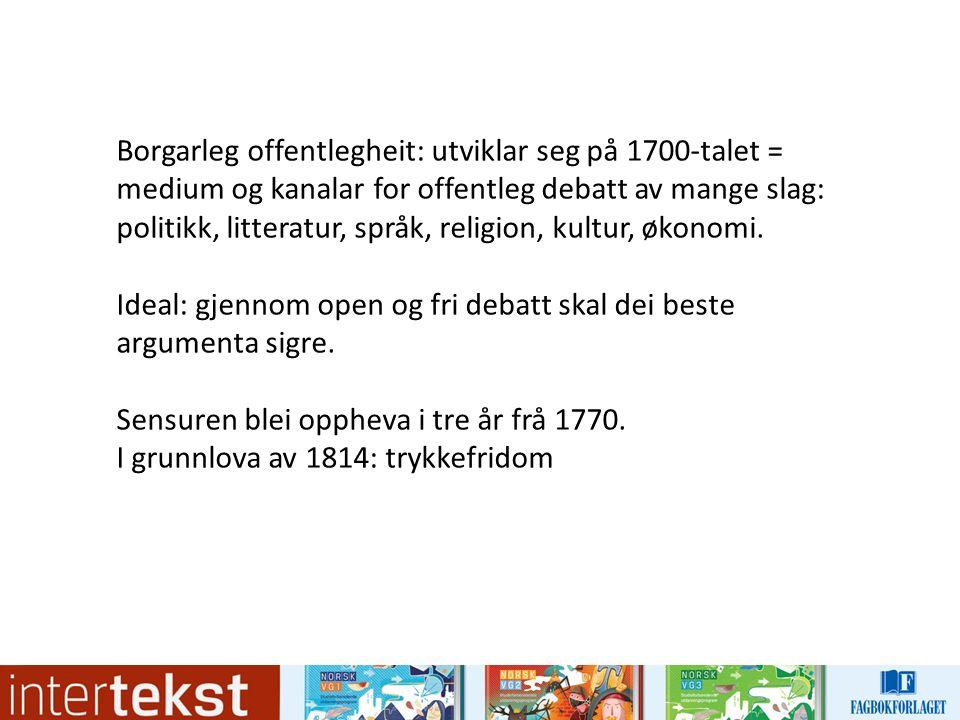 Ludvig Holberg (1684–1754)  skreiv sakprosa på dansk om emne som før var blitt skrivne om på latin  bidrog til å skape eit nytt og større publikum for sakprosa  tekstane hans er prega av kritisk fornuft: kritisk til haldningar og samfunnsforhold som ikkje kunne forsvarast ut frå logisk argumentasjon  favorittmetode: stille spørsmål ved allmenne sanningar og så drøfte dei ved hjelp av ironi og overraskande samanlikningar