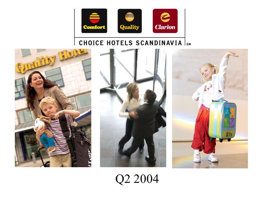 Choice Hotels Scandinavia Sterk forbedring fra foregående år Fra negativ til positiv kontantstrøm De dårlige tidene ligger bak oss Oppgangen har startet i Norge og Danmark.