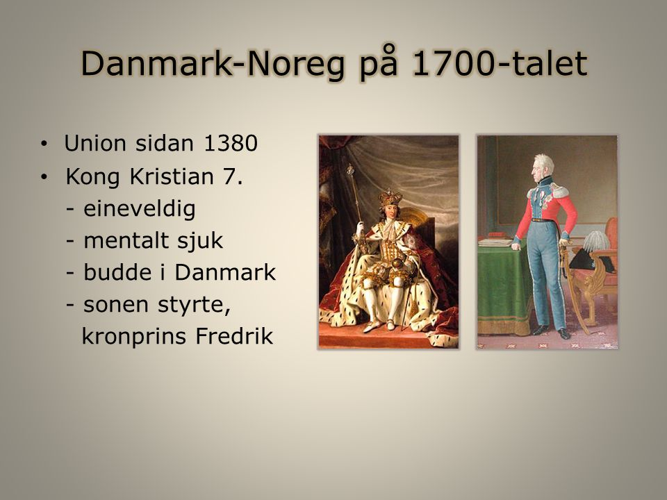 Union sidan 1380 Kong Kristian 7.