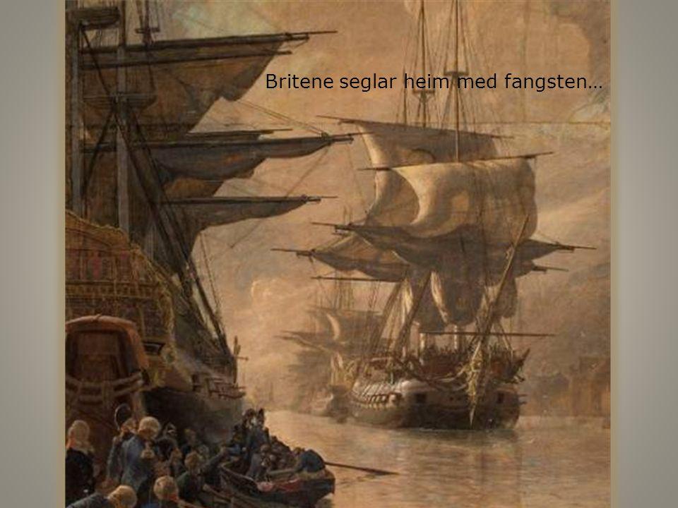 Britene seglar heim med fangsten…